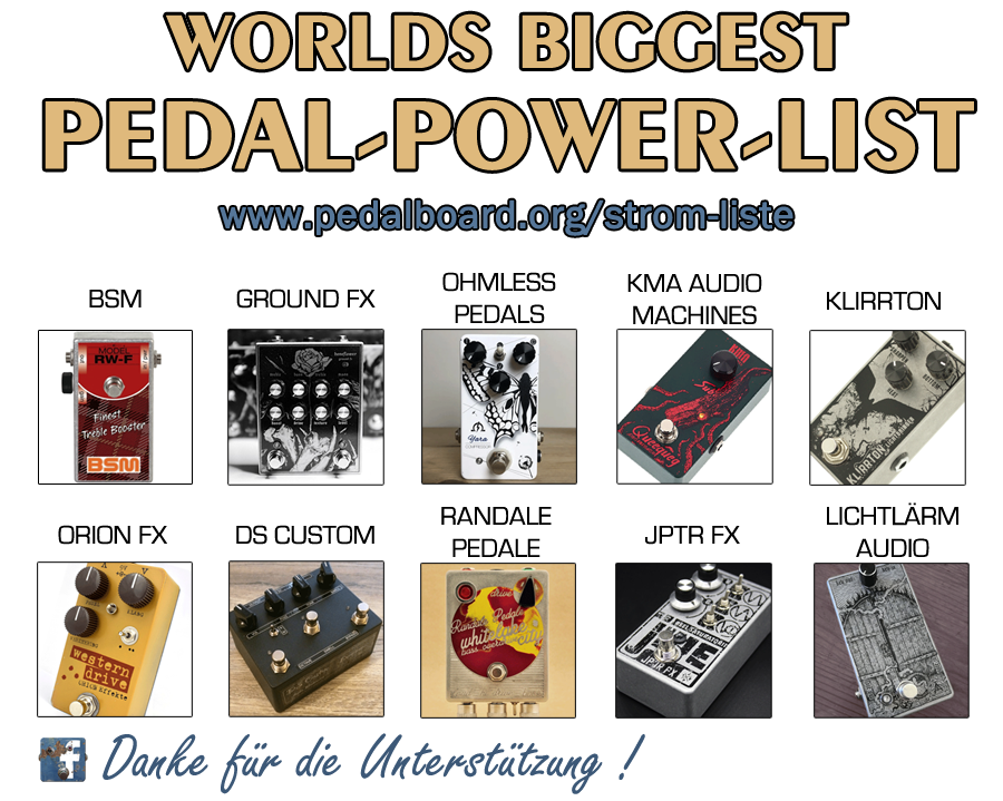 Pedal Power List | Effect Pedal Power | Strom
